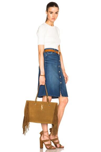 Large Fringe Monogramme Shopping Bag