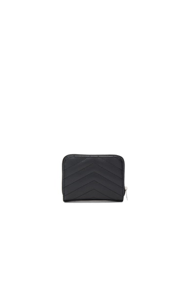 Monogram Quilted Compact Zip Wallet