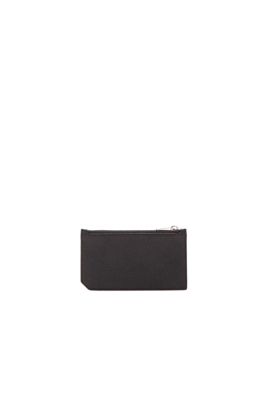 Saint Laurent Paris Zipped Fragments Credit Card Case