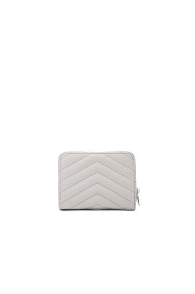 Monogram Quilted Compact Zip Wallet