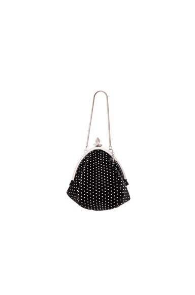 Saint Laurent Small Glitter Dots Serpent Purse in Black