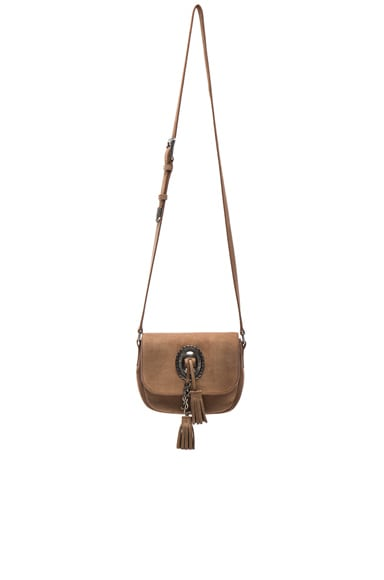 Small Suede Kim Satchel