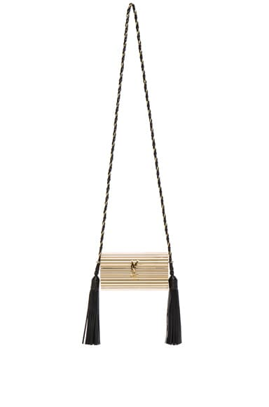 Saint Laurent Opium Minaudiere in Black & Gold