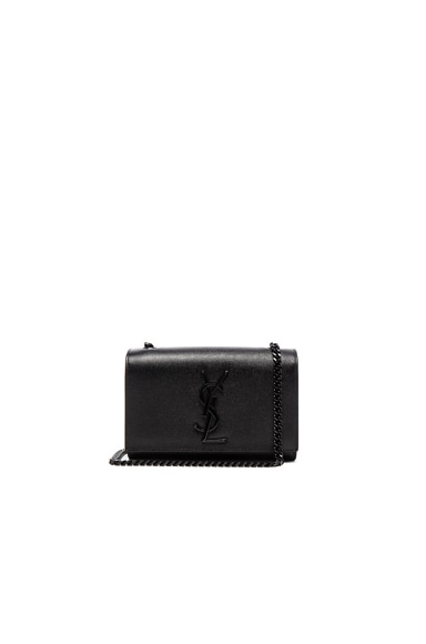Saint Laurent Small Monogram Kate Chain Bag in Black
