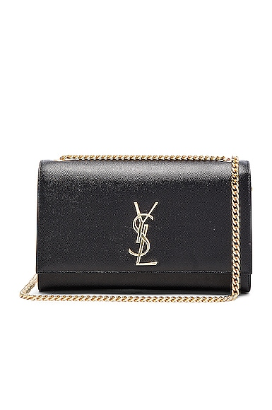 Saint Laurent Medium Monogram Kate Chain Bag in Black