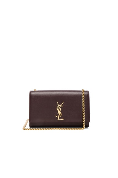 Saint Laurent Medium Monogram Kate Chain Bag in Bordeaux
