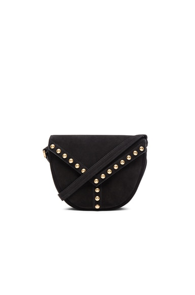 Saint Laurent Y Studs Besace Bag in Black