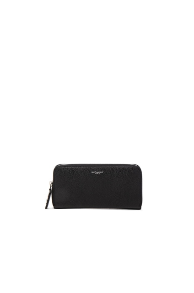 Saint Laurent St Germain Large Wallet in Black