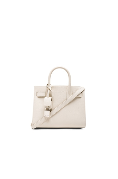 Saint Laurent Nano Sac de Jour in Porcelain
