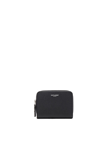 Saint Laurent St Germain Small Wallet in Black