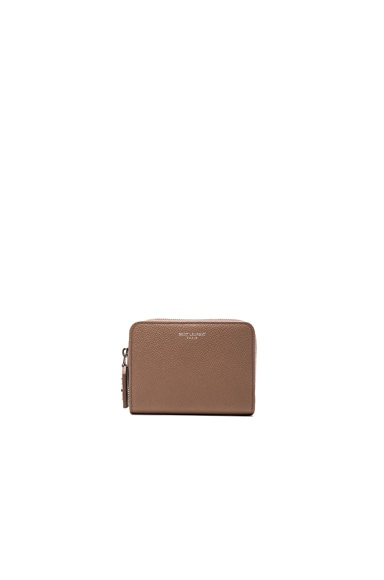 Saint Laurent St Germain Small Wallet in Fard