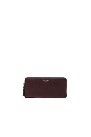 Saint Laurent St Germain Large Wallet in Bordeaux