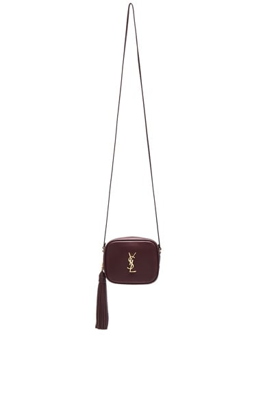 Saint Laurent Blogger Bag in Bordeaux & Black