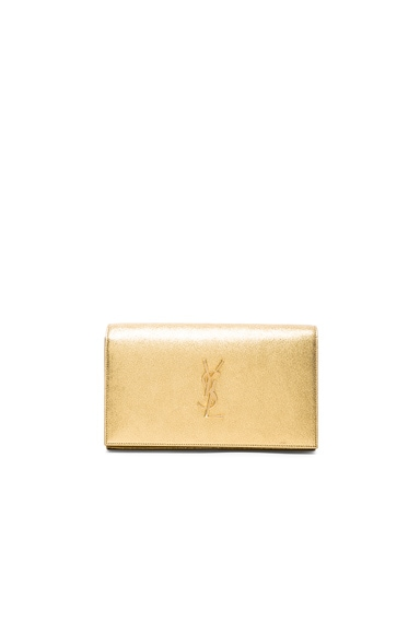 Saint Laurent Star Explosion Monogram Chain Wallet in Gold