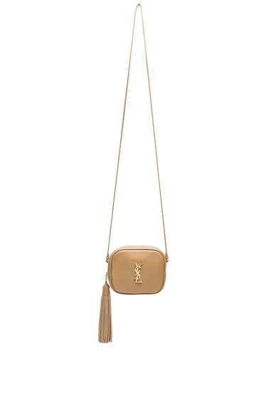 Saint Laurent Blogger Bag in Deep Beige & Black