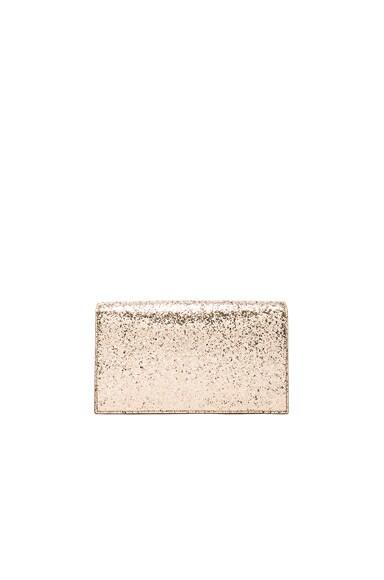 Monogram Glitter Kate Clutch