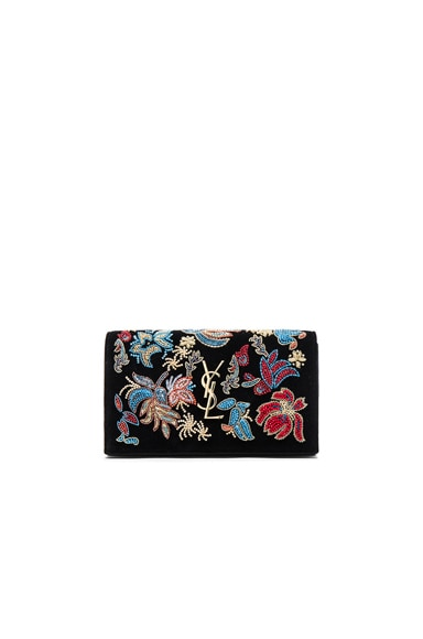 Saint Laurent Glam Rock Chain Wallet in Black Multi