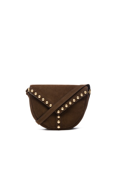 Saint Laurent Y Studs Besace Bag in Coffy
