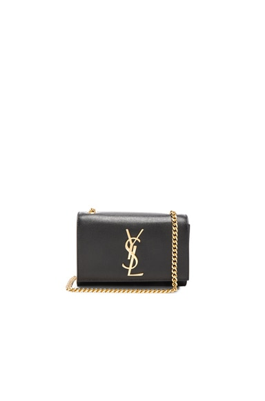 Saint Laurent Small Kate Chain Bag in Black