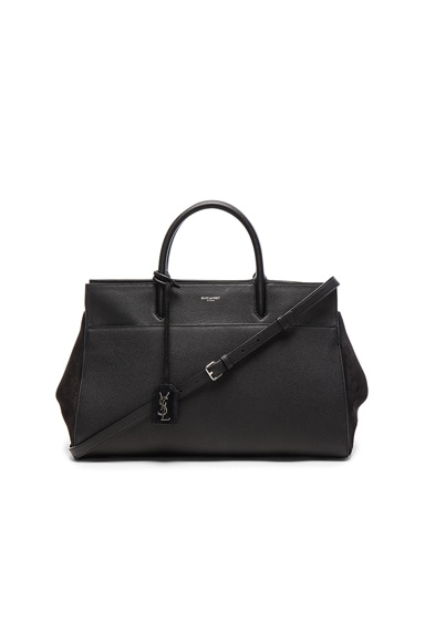 Saint Laurent Rive Gauche Medium Cabas in Black