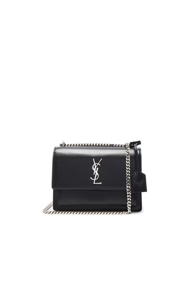 Saint Laurent Medium Monogram Sunset Chain Bag in Black