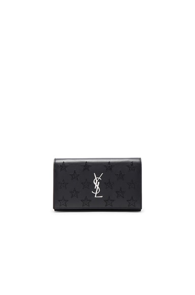 Saint Laurent California Monogram Chain Wallet in Black
