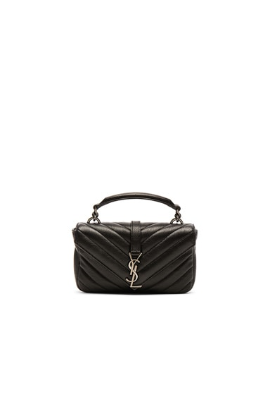 Saint Laurent College Chain Wallet in Black