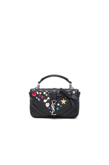 Saint Laurent College Chain Mix and Match Wallet in Black & Multi