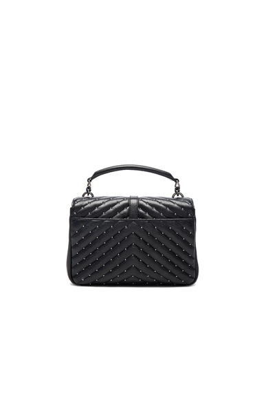 Medium Studded Monogramme College Bag