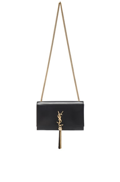 Saint Laurent Monogramme Kate Tassel Clutch in Black