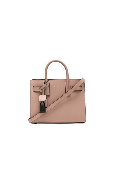 Saint Laurent Nano Double Face Leather in Nude Rose