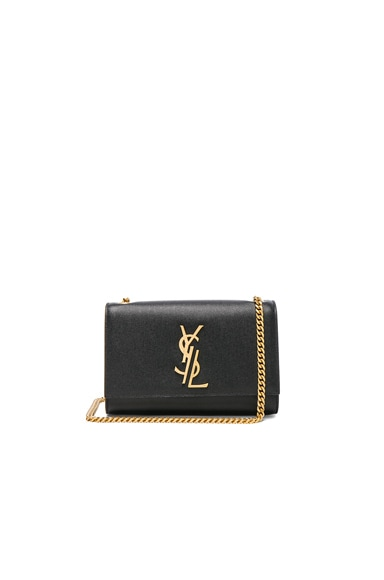 Saint Laurent Small Deconstructed Monogramme Kate Clutch in Black