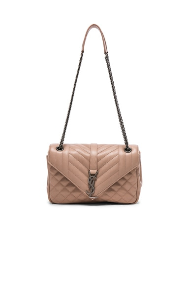 Saint Laurent Medium Envelope Chain Bag in Nude Pink