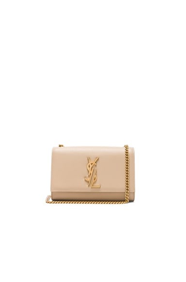 Saint Laurent Small Deconstructed Monogramme Kate Clutch in Poudre