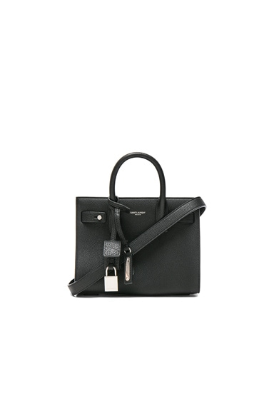 Saint Laurent Nano Supple Sac de Jour in Black