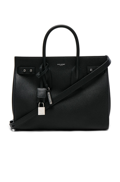 Saint Laurent Small Supple Sac de Jour in Black