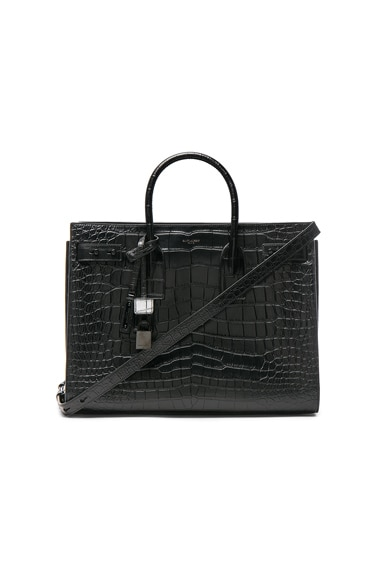 Medium Croc Embossed Supple Sac de Jour