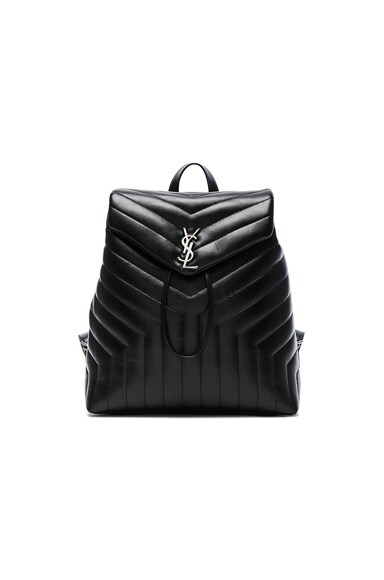 Saint Laurent Medium Monogramme Soft Backpack in Black