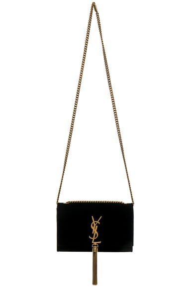 Small Velvet Monogramme Kate Tassel Chain Bag
