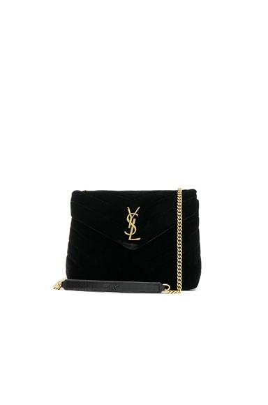 Small Velvet Monogramme Loulou Chain Bag Saint Laurent