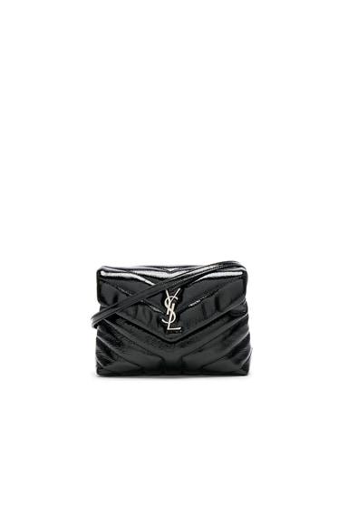 Toy Loulou Patent Monogramme Strap Bag Saint Laurent