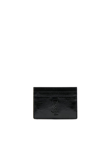Patent Monogramme Card Case Saint Laurent