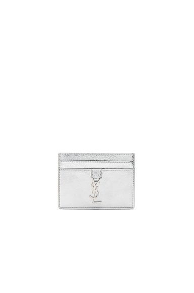 Patent Monogramme Card Case