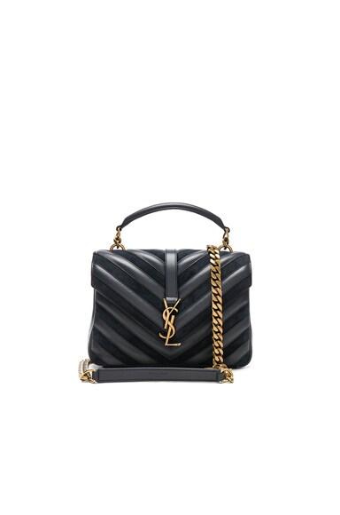 Medium Leather & Suede Patchwork Monogramme College Bag