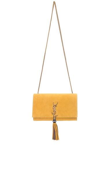 Medium Suede Monogramme Kate Beaded Tassel Chain Bag