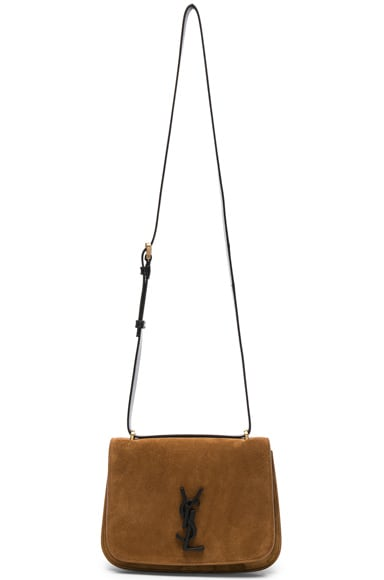 Small Suede & Leather Monogramme Spontini Satchel