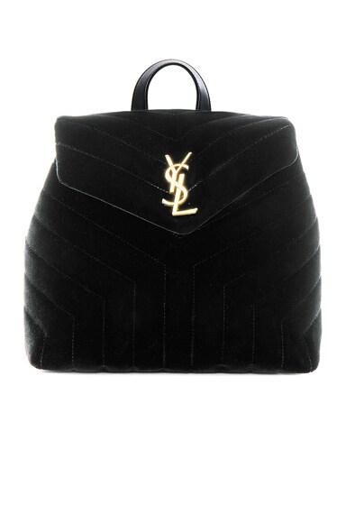Small Velvet Monogramme Loulou Backpack