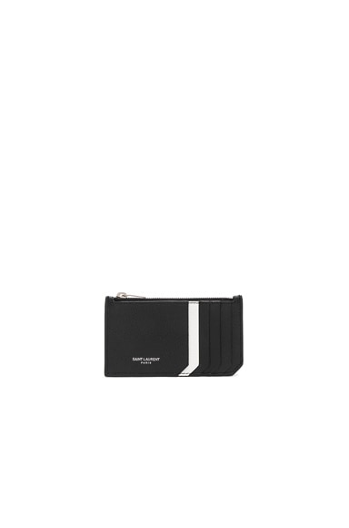 Colorblock Zipped Fragments Card Case