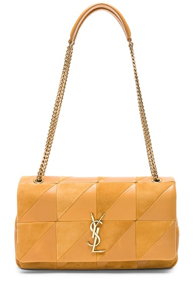 Small Jamie Suede & Leather Patchwork Monogramme Jamie Chain Bag