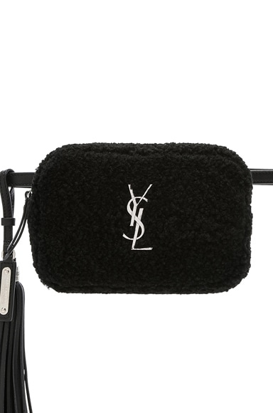 Shearling Monogramme Lou Hip Belt with Pouch